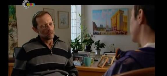 פייגלין ראיון ערוץ 10 עם מקדש מאחוריו