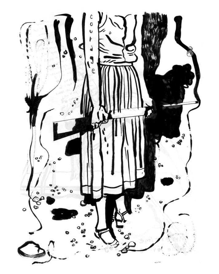 אישה עם רובה - קרן תגר