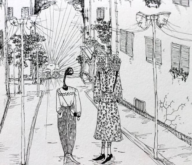 הליכה ברחוב ענבר הלר אלגזי מתוך ינפוש