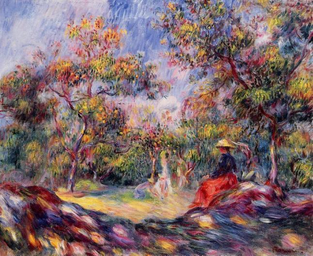 Renoir woman-in-a-landscape