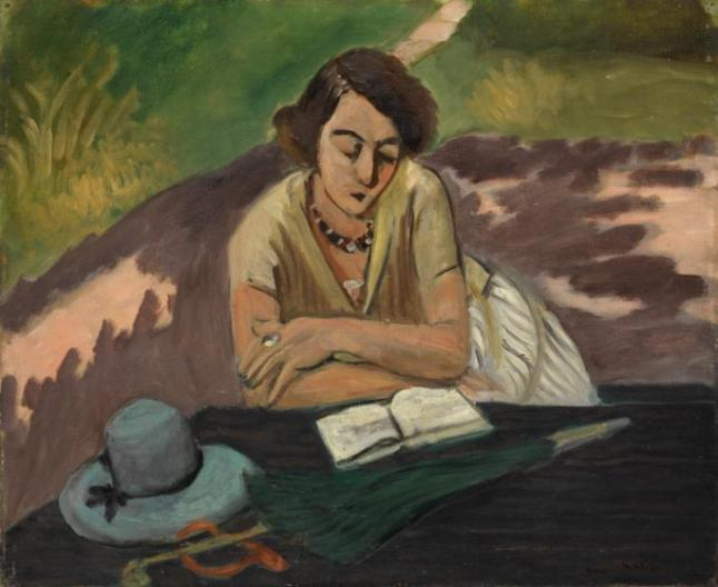 Reading Woman with Parasol 1921 by Henri Matisse 1869-1954