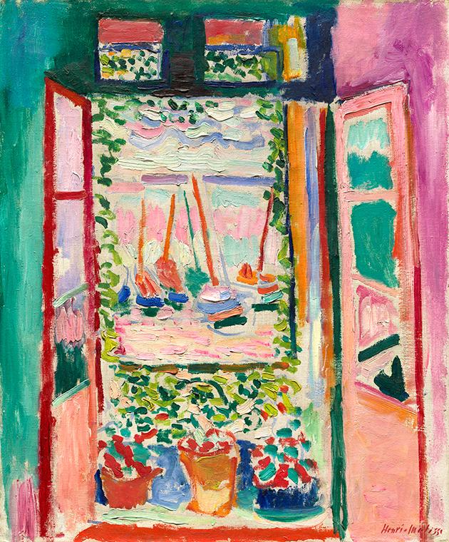 חיה לוי - חלון פתוח - הנרי מאטיס - 1905 - אשפתון אצטרובלים